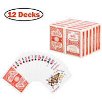 Playing Cards Poker Size Standard Index 12 Decks of Cards Player's Board Game