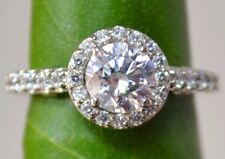 1.62 cts Brilliant Cut Solitaire Diamond Engagement Ring Solid 14k White Gold