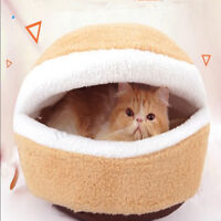 Pet Cat Soft Warm Bed Puppy Cushion House Kennel Sleeping Mat Pad Blanket Cave