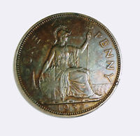 1937 One Penny George VI British-XF