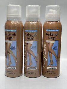Sally Hansen Airbrush Legs Medium Glow & Deep Glow Spray On Leg Makeup - (3)