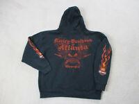 Harley Davidson Sweater Adult Medium Black Red Hoodie Atlanta Biker Motorcycle