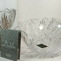 "Godinger Shannon Crystal serving salad Dublin Bowl 8.5"" - NIB beautiful ❤️"