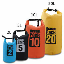 2L 5L 10L 20L Dry Carry Bag Waterproof Storage Sack Backpack Pouch Boat Kayak