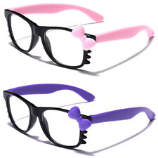 Hello Kitty BABY SUNGLASSES Infant Toddler Bow Tie Clear Lens Girls Boys Glasses