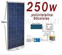 Placa Solar 250W Policristalino 12v/24v/48v para instalaciones solar