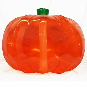 "36"" JACK-O-LANTERN Inflatable HALLOWEEN PUMPKIN Transparent Vinyl Beach Ball SPH"