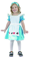 GIRLS TODDLERS ALICE IN WONDERLAND FANCY DRESS COSTUME FAIRYTALE  2 - 4 YEARS