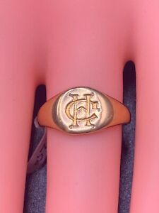 Antique Signet 18ct Gold Hallmarked Ring.4.29g