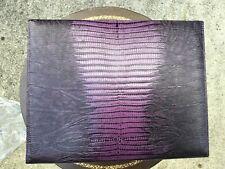 RALPH LAUREN Purple EXOTIC Leather DELPHINE JEWELRY BOX NEW MSRP $2495