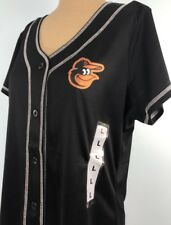 Baltimore Orioles Shirt Top Large Jersey Genuine Merchandise Polyester Black