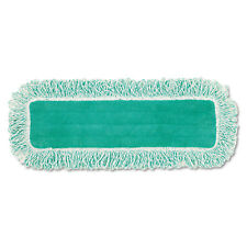 "Rubbermaid Commercial Dust Pad w/Fringe Microfiber 18"" Long Green Q418GN"