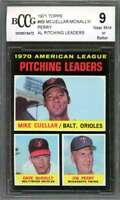 Mike Cuellar /Mcnally / Jim Perry Card 1971 Topps #69 Leaders BGS BCCG 9