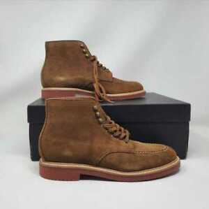 NEW  MENS 8 J CREW KENTON SUEDE PACER LACE UP ANKLE BOOTS ACORN BROWN