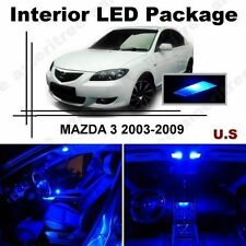 Blue LED Lights Interior Package Kit for Mazda 3 2003-2009 ( 6 Pieces )