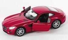 BLITZ VERSAND Mercedes AMG GT burgund Welly Modell Auto 1:34 NEU & OVP