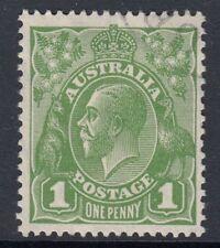 Australia: 1928 GV TESTE 1d Verde Salvia morire II SG 95b BELLE USATO