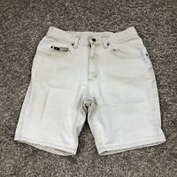 "Vintage 90s Lee Beige Denim Mom Shorts Women's 30"" Waist High Rise"