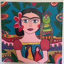 Frida Kahlo Original Urban Portrait Art in Acrylic by Dani R 'Frida'