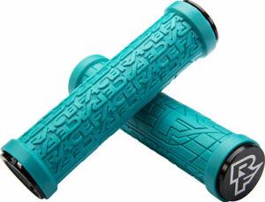 NEW RaceFace Grippler Grips - Turquoise Lock-On 30mm
