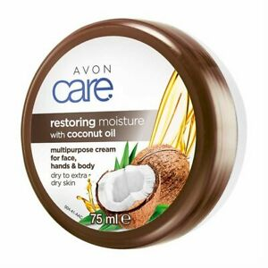 Avon Care Restoring Moisture Coconut Oil Multipurpose Cream, 75ml - Handbag Size