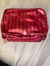 Victorias Secret Hanging Makeup Cosmetic Beauty Bag Travel Case Striped