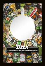 BEER MIRROR - Novelty Mirror - Gift For Beer Lover - Booze Hound