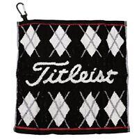 Titleist Japan Golf Hand Towel with hook Black AJTWH51 W34 ?~ H35cm