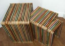 Teak Rustic Nested Tables For Sale Ebay