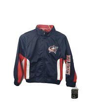 NHL Columbus Blue Jackets Full-Zip Jacket Youth Size S 7/8 Boys Girls Hockey NWT