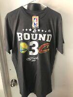 Majestic Men's Large Nba Finals Shirt Gray Warriors Cavaliers New Basketball