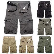Herren Cargo Bermuda Shorts Army Arbeitshose Freizeit Kurz Hosen Combat Shorts
