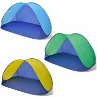 Strandmuschel Strandzelt Pop Up Sonnenschutz Wurfzelt UV Schutz Beach Windschutz