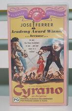 JOSE FERRER CYRANO DE BERGERAC VHS VIDEO BLACK AND WHITE!