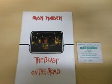IRON MAIDEN 1982 Beast on the Road Tour Programme + Ticket