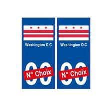 Washington D.C ville sticker numéro au choix autocollant drapeau USA city