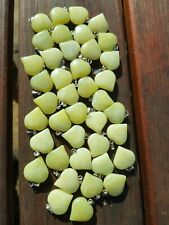 Heart pendants semi precious 40 yellow stone pendants ideal for crafting/jewels