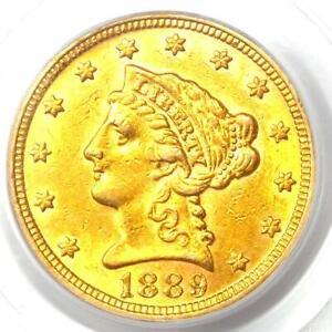 1889 Liberty Gold Quarter Eagle $2.50 - PCGS Genuine - AU / UNC Details - Rare!