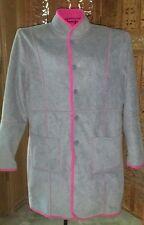 M Denim & Co. reversible fleece gray & fuschia