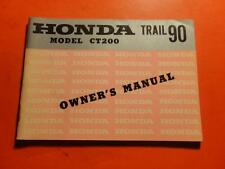 OEM FACTORY OWNERS MANUAL HONDA 1964 CT200 51PAGES