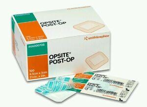 Opsite post-op absorbent,film dressings 6.5cm x 5cm x 100