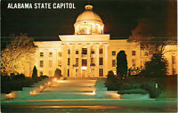 Postcard State Capitol At Night Montgomery Alabama
