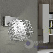 Applique spot faretto orientabile cristallo cubo design moderno cromato bagno
