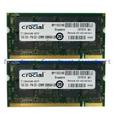 Crucial 2GB 2 x 1GB DDR Notebook PC3200 400MHz Laptop SODIMM Speicher RAM 200pin