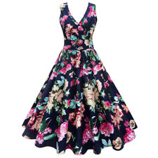Retro Womens 50s 60s Rockabilly Swing Dress Vintage Floral Cocktail Party Dress