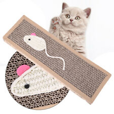 JP_ Cat Kitten Scratch Pad Board Corrugated Safe Card Bed Claw Care Interactiv