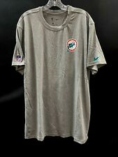 Miami Dolphins Team Issued Player Throwback Logo Dri-Fit T-Shirt Brand New