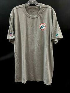 MIAMI DOLPHINS TEAM ISSUED PLAYER THROWBACK LOGO DRI-FIT T-SHIRT BRAND NEW !