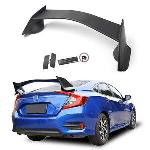 Type R Style ABS Plastic Rear Trunk Wing Spoiler For Honda Civic 4Dr Sedan 18 T3
