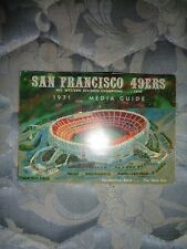 1971 SAN FRANCISCO 49ERS MEDIA GUIDE Yearbook Press Book Program NFL Football AD